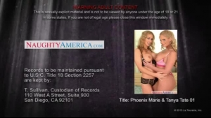 Tempestuous blondes Nevea Lee and Amber Ivy sharing a senior