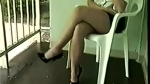 See hot whores thinking on the pool table wearing high heels