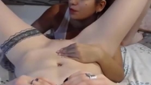Lesbians are eating each other's muff and licking each other's pussy during a private threesome
