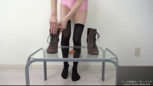 Foot fetish bosses only like guys who are wearing foot fetish boots are available for their ingeneasing