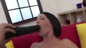 Fresh young brunette fucked n worship dong